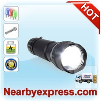 Factory direct Flashlight LED Camp Light 18650 Battery 6000-6500K