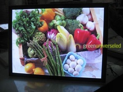 led display A0 size super slim 18mm thickness Magnet light box free shipping!(China (Mainland))