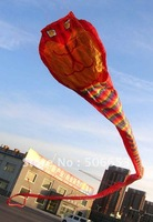 50m huge tube-shaped parafoil big red snake/cobra eye kite