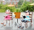 NEW!!! Free Shipping garden style cartoon couple iron desk deco/ iron decoration / desk iron craft/ table ornament