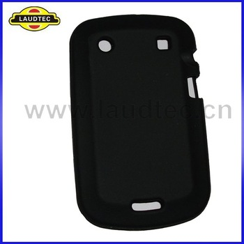 Free Shipping 100pcs/lot Black Color Soft Silicone Skin Case Cover for Blackberry Bold Touch 9900