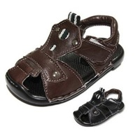 Free shipping kid's Sandals shoes Polyurethane soft sheepskin NEW Arrival  black brown