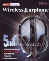 Hot sales Stereo Wired Wireless Headphone 5 in 1 Headset for MP3 PC TV CD With retail package