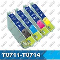 Compatible ink cartridge T0711 T0712 T0713 T0714 for EPSON  STYLUS D78; DX4000/4050 (4pcs/set)