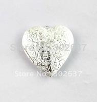 FREE SHIPPING 20PCS Silver Plate Heart Locket Pendant 42x40mm #20404