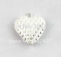 FREE SHIPPING 50PCS Pattern Heart SP Locket Pendant 20mm #20407