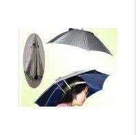 Umbrella Hat Golf Fishing Camping Headwear Cap Rain Umbrella Head Hat Cap for Beach & Outdoor