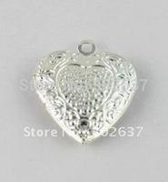 FREE SHIPPING 50PCS Pattern Heart SP Locket Pendant 20mm #20410