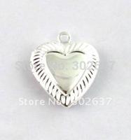 FREE SHIPPING 50PCS Heart In Heart SP Locket Pendant 20mm #20411