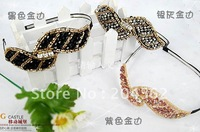 Free shipping +Fashion ornaments + manual beaded leaves fashion hair hoop