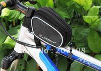 NEW MERIDA Black Bike Bicycle Panniers Frame Rack Bag Front Tube Bag Saddle Bilateral Bag