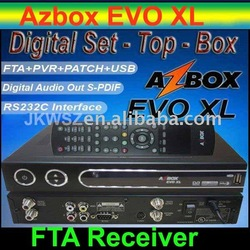 Free Shipping 1pcs/lot Receptor AZBOX EVO XL, AZBOX EVO XL USB Satellite TV Receiver(China (Mainland))