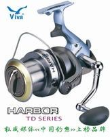 Free Shipping,VIVA  HARBOR TD80 series, Long shot,Spinning fishing reel 13+1BB