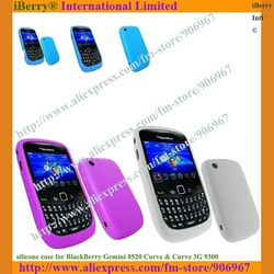 Silicone Protective Case For Blackberry Curve 8520,11 colors optional,DHL Free Shipping,simple polybag packing(China (Mainland))