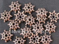FREE SHIPPING 900pcs Antiqued copper plt cut out flower bead caps A523C