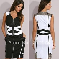 2012 party cocktail dress white cute dresses sleeveless size 8 10 12 14 16 free shipping dropship