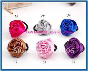 FREE SHIPPING! silk rose flower hair clips , Elastic hair bands , hair bow