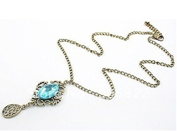 Free shipping(50pcs/lot)Stone necklace/ Antique necklace/ Brand New Mixed Style Necklace Jewelry(X-42)