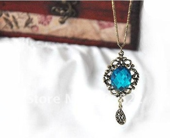 Free shipping(12pcs/lot)Stone necklace/ Antique necklace/ Brand New Mixed Style Necklace Jewelry(X-42)