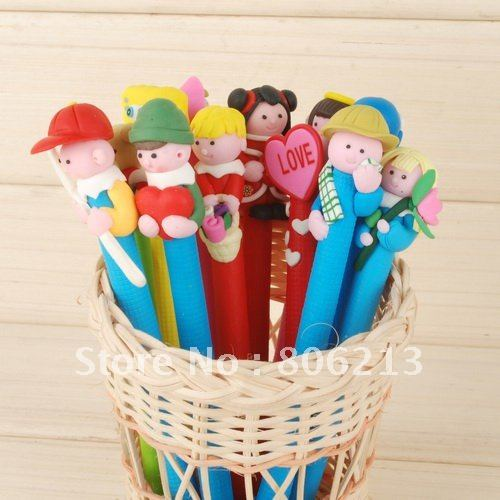 Hot selling Free Shipping Ballpoint /Cartoon pen/Gift pen craft art figurine for Present children&#39;s toy or Decoration(China (Mainland))