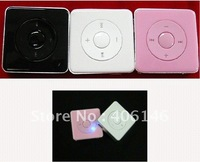 DHL+Free wholesale 100pcs/lot fashion Mini Clip Mp3 player,New music player,Support 128MB to 4GB Micro TF card (No card)