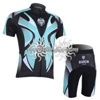 CYCLING SHORTS JERSEY+SHORTS 2011 Bianchi-BLACK&BLUE--AVAILABLE SIZE:S-M-L-XL-XXL-XXXL