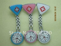 Free shipping,50pcs/lot,New design lovely nurse watch,nurse pin watch, nurse fob watch