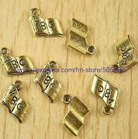 free shipping130 pcs/lot,wholesale  fashion lovely book charms,antique gold charmsjewelry findings jewelry accessories