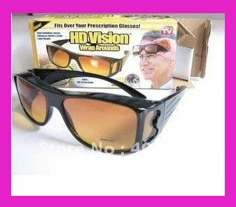 1pc free shipping HD Vision Wraparounds Sunglasses Wrap Around Glasses