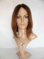 HOT BOB CUT STYLE Human hair lace front wig 12inch T2/6 two tones