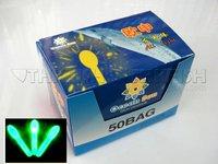 Free EMS! 1000pcs Lot  (1BOX=50Bags=100Pcs) Dia:3.0X45mm Fishing Lighting Stick Wand Green Colour Glow Stick