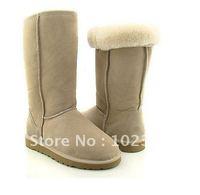 Best-selling - Wholesale - 2010 new Australia snow Boot, Women`s Half Snow Boots Lightgrey 5815