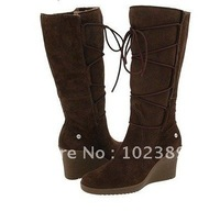2010 winter snow boots, wool, suede new integrated high boots shoes pigskin