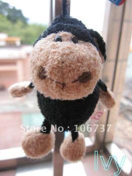 "NICI Black jolly sheep Key Chain Stuffed 4.5""NEW"