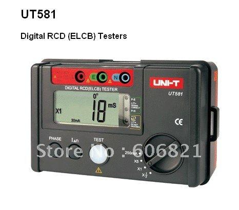 transporte livre novo 100% promoção de vendas 5pcs/lot Elétrica Tools/UT581 Digital RCD (ELCB) Testers(China (Mainland))
