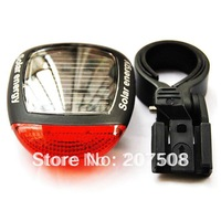 2010 Solar Energy Power Bike Bicycle Cycling Rear Light Tail Lamp Free Shipping