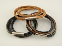 Min Order $20 Men's Stylish Handmade Leather Wrap Bracelets Cheapable Wholesale Price