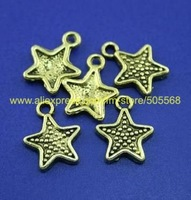 free shipping 65 pcs/lot,wholesale fashion lovely star charms,antique gold charms,jewelry findings jewelry accessoriesinse