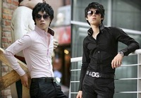 Wholesale Male long-sleeved shirt Slim Korean features collar man's shirt 946