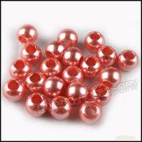 360pcs/lot New Orange Plastic Charms Bead Smooth Big Hole Round 12mm Fit European Bracelet&Necklace 151296