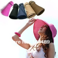 New Fashion folding sun visor Air top hat sun hat CAPELINE topee topi sun hat portable type Large Size E0196