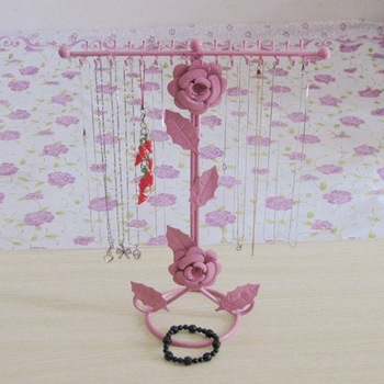 Hot!! New Rose pendant necklace rack display mobile phone pendant frame jewelry holder earring rack 32 rack hook 1pcs gifts Free