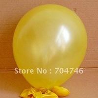 10 inch 1.3 grams Christmas Halloween Holiday decorations Helium Latex Balloons yellow 1000pcs