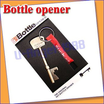 10 pcs/lot New Bottle Opener Key Ring Keyring Chain Metal Bar Tool +  free shipping