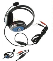 500pcs/lot PC Headphones with Noise Canceling Mic W/ Microphone VoIP Computer laptop Headset freeshipping