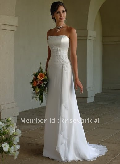 Discount!! Deal sale! Free shipping! Fantastic high quality formal bridal wedding dress gown DC-07(China (Mainland))