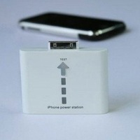 Hot sale 16pcs/lot White/Black Portable Mobile Power Station / Backup Battery Charger for 3G iphone+Fulfillment shipping
