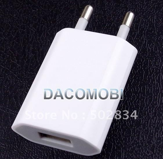 New EU USB Wall Home Travel Charger AC Adapter For iPhone 4G(China (Mainland))