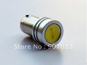 Free shipping +DHL(100PCS)Blue LED Car Light Bulb Lamp BA9S-1W DC12V by wholesales + retail