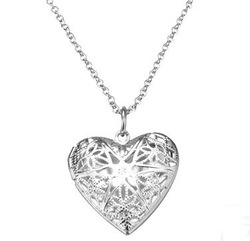 Free Shipping 925 sterling Sliver Necklace 925 jewelry heart necklace with gift box(China (Mainland))